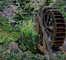 Garden's Water Wheel by mrthink