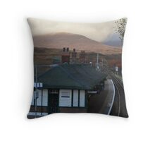 Rannoch Station & Tea room in Autumn Throw Pillow