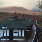 Rannoch Station & Tea room in Autumn by Kirsty Auld