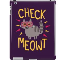 Check Meowt iPad Case/Skin