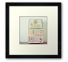 Radio Stations Framed Print