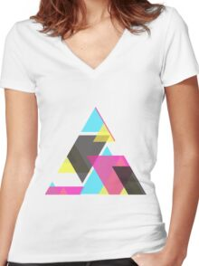 cmyk comp.2 Women's Fitted V-Neck T-Shirt