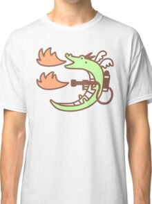 Dragon With A Flamethrower Classic T-Shirt