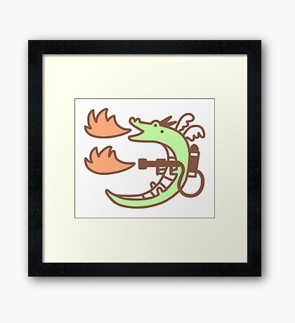 Dragon With A Flamethrower Framed Print
