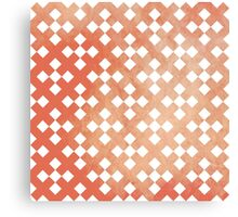 Red Square Puzzle Pattern Canvas Print