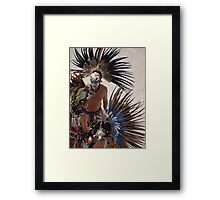 Colourful Feathered Headdress - Plumero De Colores Framed Print