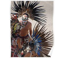 Colourful Feathered Headdress - Plumero De Colores Poster