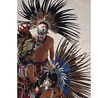 Colourful Feathered Headdress - Plumero De Colores Photographic Print