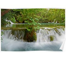 Idyllic waterfall. Poster