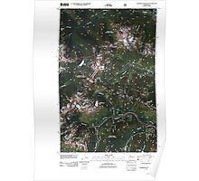USGS Topo Map Washington State WA Labyrinth Mountain 20110428 TM Poster