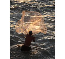 Fishing In The Evening - Pescando En La Nochecita Photographic Print