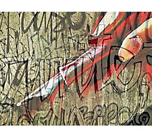 I have seen the writing on the wall Photographic Print