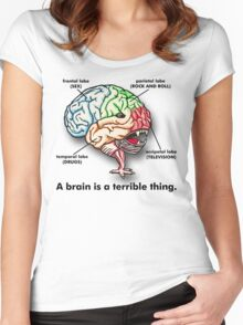 A Brain Women's Fitted Scoop T-Shirt