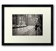 Rainy Day - Greenwich Village - New York City  Framed Print