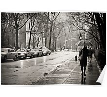 Rainy Day - Greenwich Village - New York City  Poster