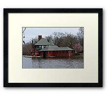 Boathouse at Roger Williams Park Framed Print