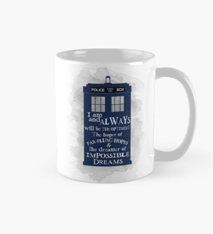 Dr Who - The Optimist quote  Mug