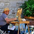 Artist in Lazise by Martina Fagan