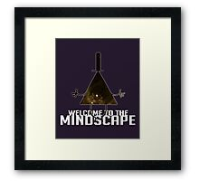 Welcome to The Mindscape -Golden Framed Print