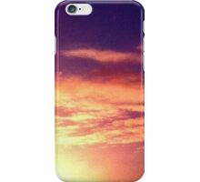 sunny red golden blue sky  iPhone Case/Skin