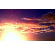 sunny red golden blue sky  Photographic Print