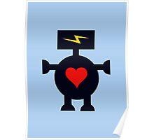Cute Heart Robot Poster