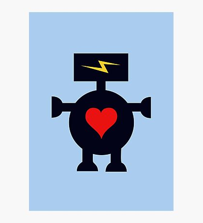 Cute Heart Robot Photographic Print