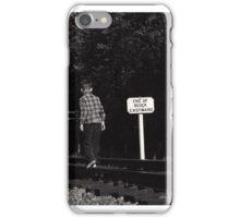 Kids on the Railroad Tracks iPhone Case/Skin