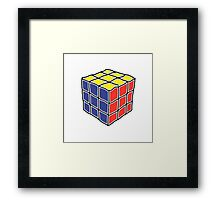 Cube Puzzle Framed Print