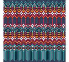 russian carpet blue Photographic Print