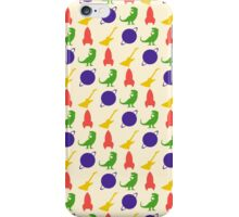 Rocket, Guitar, Planet, Dinosaur Pattern iPhone Case/Skin