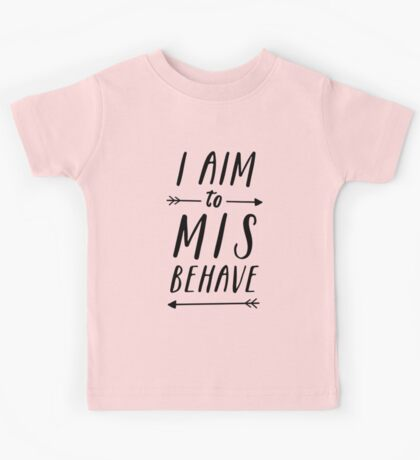 Aim To Misbehave | White Kids Tee