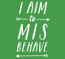 Aim To Misbehave | Black Baby Tee