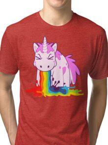 Unicorn 'I Puke Rainbows!' Tri-blend T-Shirt