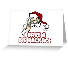 Christmas - Santa's Big Package Greeting Card