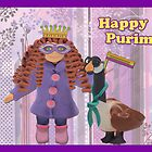 Happy Purim Card by curlyorli