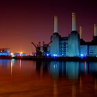 Battersea power station night shot by Dean Messenger