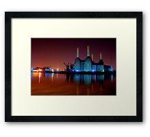 Battersea power station night shot Framed Print