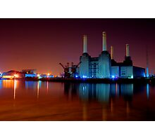 Battersea power station night shot Photographic Print
