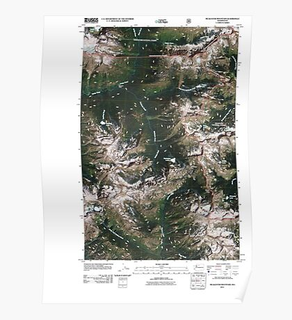 USGS Topo Map Washington State WA McAlester Mountain 20110427 TM Poster