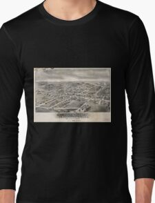 Panoramic Maps Womelsdorf Pennsylvania Long Sleeve T-Shirt