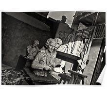 Sculptures in the window Poster