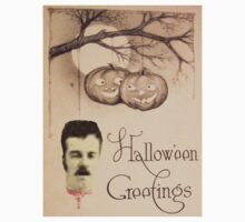 Just Hanging Around (Vintage Halloween Card) by Welte Arts & Trumpery