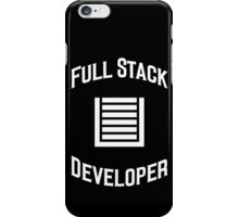 Full Stack Developer - Design for Web Developers White Font iPhone Case/Skin