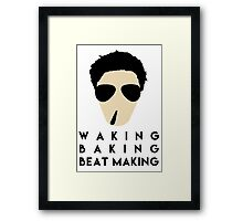 Waking Baking Beat-Making Framed Print