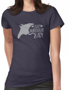 Crazy manta ray Lady Womens Fitted T-Shirt