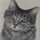 Cat With Inquisitive Look by Pam Humbargar