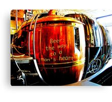Beer: the way to a man's heart Canvas Print