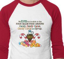Elfs 4 basic food groups Men's Baseball ¾ T-Shirt