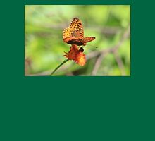 Great Spangled Fritillary Butterfly Womens Fitted T-Shirt